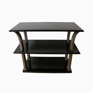 Art Deco French Metal & Wood Console by Edgar Brandt, 1920s