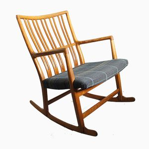 Vintage Oak ML-33 Rocking Chair by Hans J. Wegner for Mikael Laursen