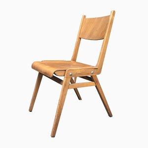 Moderner Vintage Stuhl mit Kompass-Füßen, 1950er
