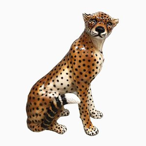 Vintage Italian Ceramic Cheetah