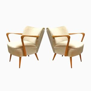 Vintage Cocktail Armchairs, 1950s, Set of 2