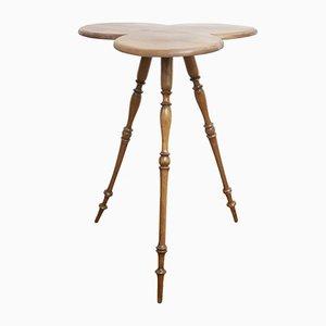Mesa con trípode nórdica Art Déco de nogal, años 30