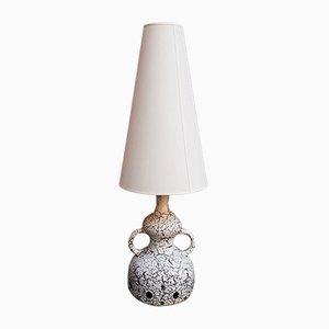 Lámpara de pie vintage de cerámica Fat Lava