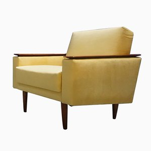 Mid-Century Danish Yellow Lounge Chair