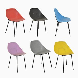 Coquillage Chairs by Pierre Guariche for Meurop, 1960s, Set of 6