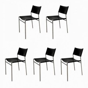 Vintage Model SE06 Dining Chairs by Martin Visser for 't Spectrum, Set of 5