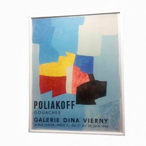 Affiche Lithographie Poliakoff at Dina Vierny de Mourlot Fernand, 1965