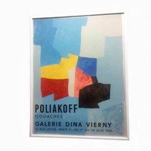 Litografia Poliakoff at Dina Vierny di Mourlot Fernand, 1965