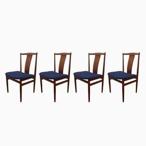 Danish Teak Chairs by Henning Sorensen for Danex, 1960s, Set of 4