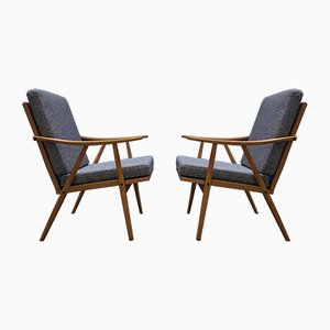 Mid-Century Modern Czech Armchairs from Thonet, 1960s, Set of 2