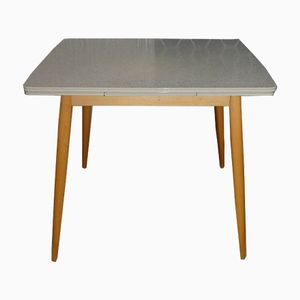 Formica Wood Extendible Kitchen Table, 1950s