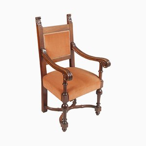 Vintage Carved Renaissance Throne Armchair from Bonciani