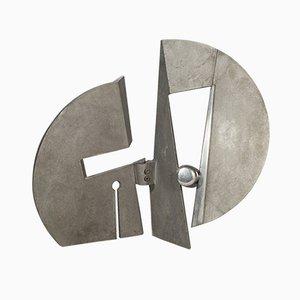 Skulptur aus Aluminiumguss von Nerone Ceccarelli, 1970er
