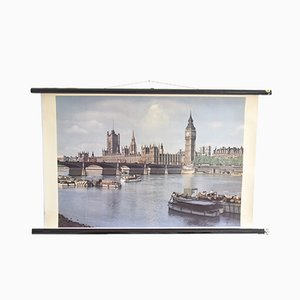 Poster Déroulant de Londres Vintage, 1960s