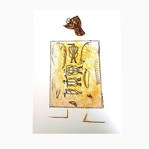 Lithographie Le Soldat par Max Ernst pour Pierre Chave, 1972