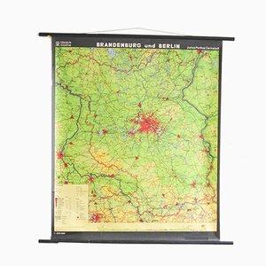 Ausrollbare Vintage Berlin-Landkarte