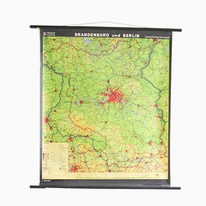 Vintage Berlin Pull Down Map