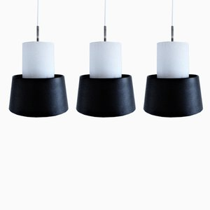 Industrial Danish Pendant Lamps from Louis Poulsen, 1970s, Set of 3