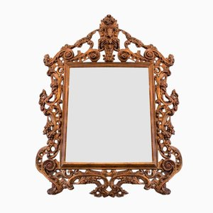 Large 19th Century Rococo Carved Wall Mirror