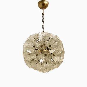 Lampe Sputnik Mid-Century en Verre de Murano à Fleur Light de Venini