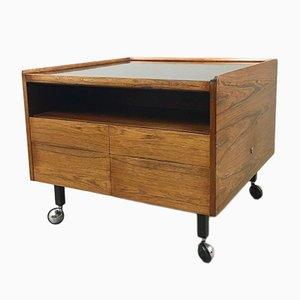 Vintage Scandinavian Rosewood Cabinet on Castors