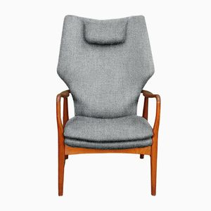 Customizable High Back Armchair by Madsen & Schübel for Bovenkamp in Stone Grey