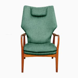Customizable High Back Armchair by Madsen & Schübel for Bovenkamp in Teal