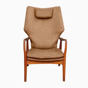 Customizable High Back Armchair by Madsen & Schübel for Bovenkamp in Terracotta
