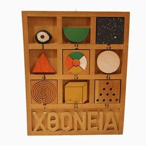 Caja Chthonic de madera de Joe Tilson, 1976
