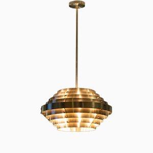 Lampada da soffitto Saturn in ottone di Franco Mariotti per Edizioni Flair