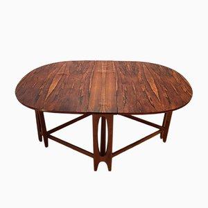 Table Ellipse 2 en Palissandre par Bendt Winge pour Kleppes Mobelfabrik, 1960s