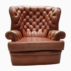 Fauteuil Wing en Cuir de Whittle Brothers de Warrington, 1970s