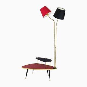 Mesa con lámpara de pie, años 60