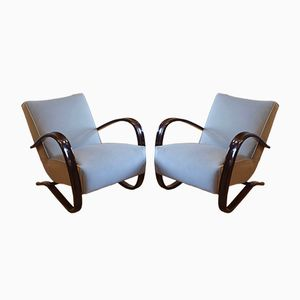 Art Deco H269L Lounge Chairs by Jindrich Halabala for Thonet, 1930s, Set of 2