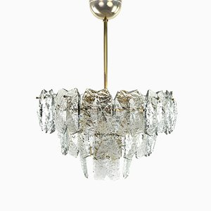 Vintage Crystal & Brass Chandelier by J. T. Kalmar, 1960s