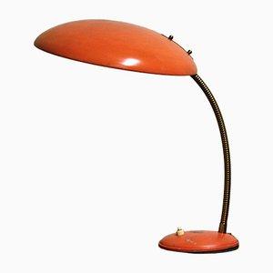 Lampada da tavolo Bauhaus vintage arancione di Philips, anni '60