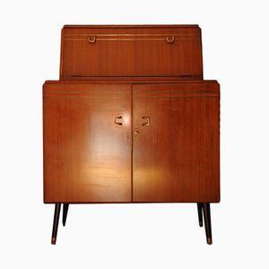 Vintage Walnut Cocktail Bar & Cabinet from Rivington
