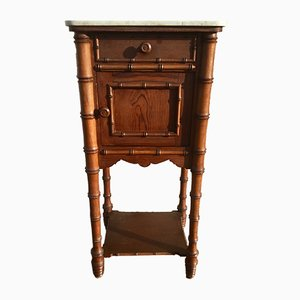 Table de Chevet Antique en Faux Bambou