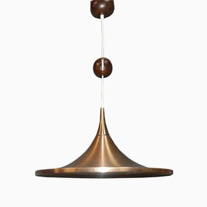 Copper Trumpet Ceiling Lamp by Rolf Krüger for Staff, 1960s