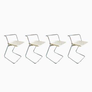 Chaises Pliantes par Claudio Salocchi pour Alberti, 1970s, Set de 4