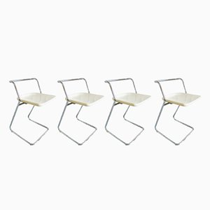 Folding Chairs by Claudio Salocchi for Alberti, 1970s, Set of 4