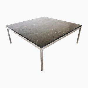 Black Marble Top Coffee Table by Florence Knoll for Knoll International, 1960s