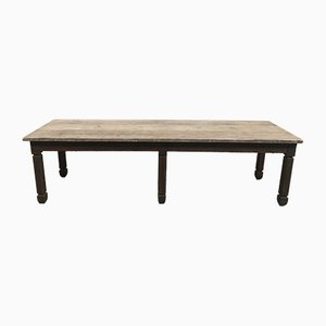 Large Antique Farm Dining Table