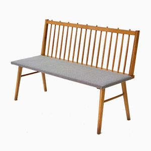 Vintage Beech Bench from Musterring International, 1950s