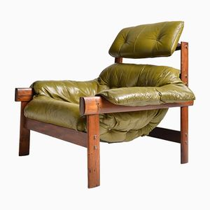 Model MP041 Leather Armchair by Percival Lafer, 1960s