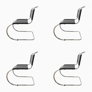 Vintage Armchairs by Ludwig Mies Van Des Rohe, 1970s, Set of 4