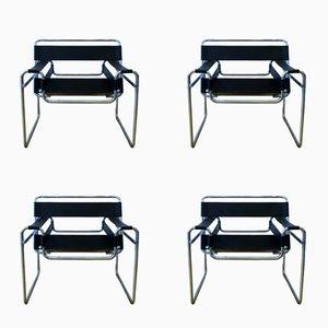 Poltrone moderniste di Marcel Breuer, anni '70, set di 4