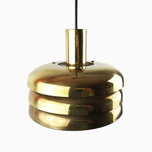 Lámpara colgante de latón de Hans-Agne Jakobsson para AB Markaryd, años 60