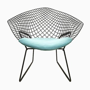 Vintage Diamond Chair Model 421 by Harry Bertoia for Knoll