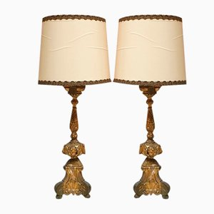 19th-Century Table Lamps, Set of 2
